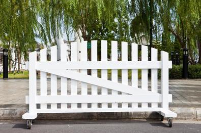 This is a picture of a vinyl fence.