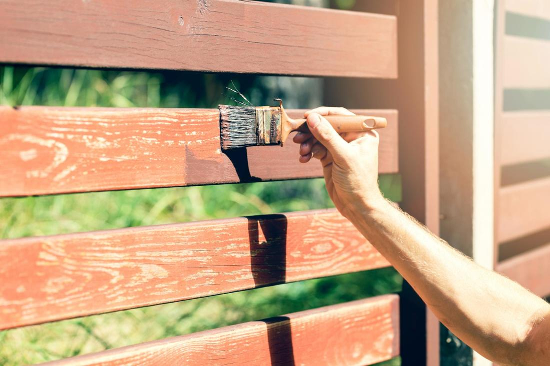 This is a picture of a fence repair.