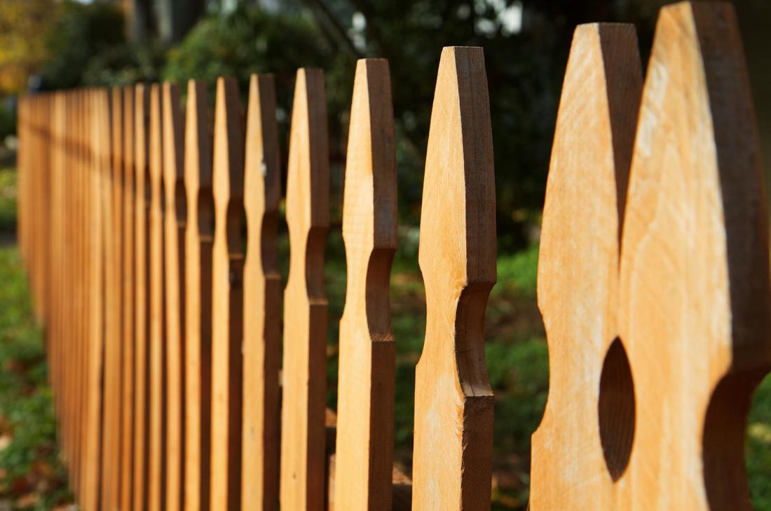 This is a picture of a vinyl fencing.